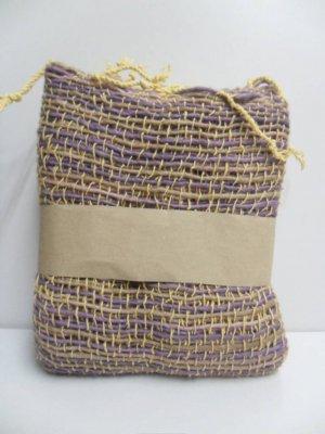Yellow Purple  Cotton 100% Scarf
