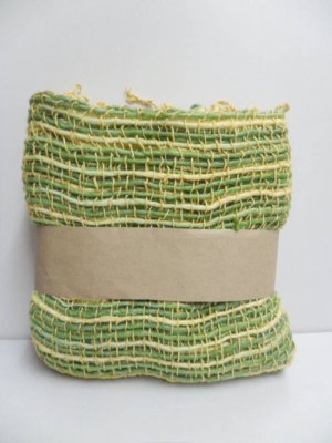 Yellow and Green  Cotton 100% Scarf