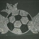 Soccer Ball with Wings Rhinestone Crystal Shirt