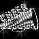 Cheer Megaphone Rhinestone Crystal Shirt