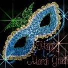 Mardi Gras Mask Crystal Rhinestone Shirt