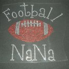 Football Nana Crystal Rhinestone Shirt