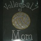 Volleyball Mom Crystal Rhinestone Shirt