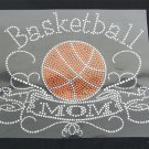 Basketball Mom Banner Crystal Rhinestone Shirt