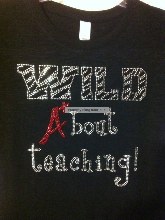 Wild A+bout Teaching Crystal Rhinestone Shirt