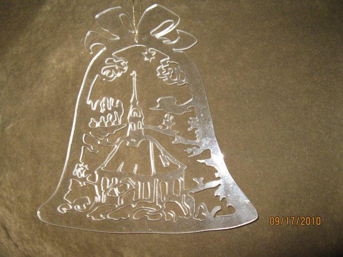 Bell w/Church Scroll Saw Fretwork Plexiglas  Ornament