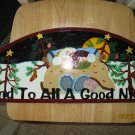 And To All A Good Night....Handpainted Wall Plaque