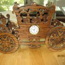 Scroll Saw Fretwork Princess Carriage Mini Clock