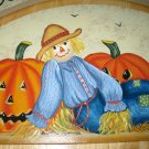 Fall Scarecrow Welcome to Our Home Handcrafted Plaque