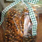 8 Hand Dipped  Pine Cone Fire Starters Pumpkin Pie Scented