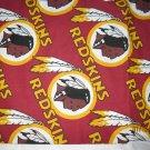 Set of 2 Washington Redskins King Size Pillow Cases - Handmade