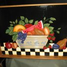 Hand Painted Country Fruit Tray  - Bamboo Tray