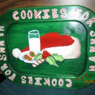 Hand Painted Cookies for Santa Wooden Cookie Plate
