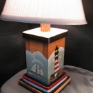Handcrafted and Hand Painted Nautical Lamps- Set