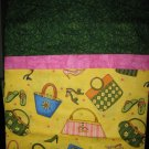 Set of 2 Purses & Shoes Standard Size Pillow Cases - Handmade