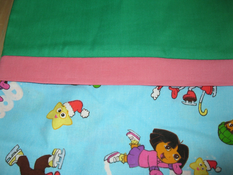 Set of 2 Dora The Explorer Standard Pillow Cases- Handmade