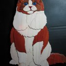 Handcrafted Cat Wood  Intarsia/Segmentation
