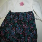"Handmade Black Floral Doll Dress fits 18"" Doll like American Girl"