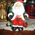 """Hand Painted Santa Resin Figurine- 5-1/4"""" Tall"""