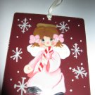 Little Pink Angle Handcrafted Glass Christmas Ornament