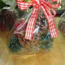 8 Hand Dipped Pine Cone Fire Starters- Assorted Scents