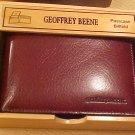 Geoffrey Beene Passcase passport Billfold New nib