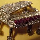 "Piano Brooch  1.30"""