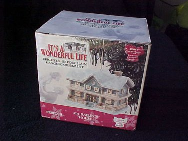 """It's A Wonderful Life"" Xmas Ornament New NIB Ma Bailey's House lights up"