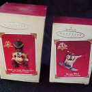 New Hallmark Keepsake nib Taz set of 2 Xmas nos 2003-5 Ornament