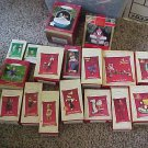 Hallmark Keepsake Xmas Tree Ornamennts lot of 17 nos New in Box 90s - 2005