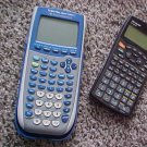 TI-84 as is rare vintage collectibles Texas Silver Edition  and Sharp EL-W535 working calculators