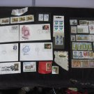Stamps Lot of 55 Stamps and 4 1st Day Covers Billie Holiday Lindberg etc