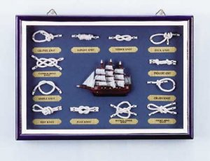 Wood Nautical Shadow Box #31231