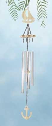 Wood Nautical Wind Chimes #31828