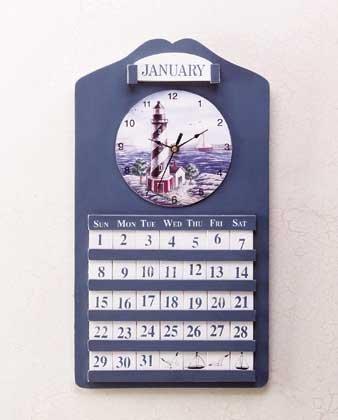 Lighthouse Clock and Perpetual Calendar #33773