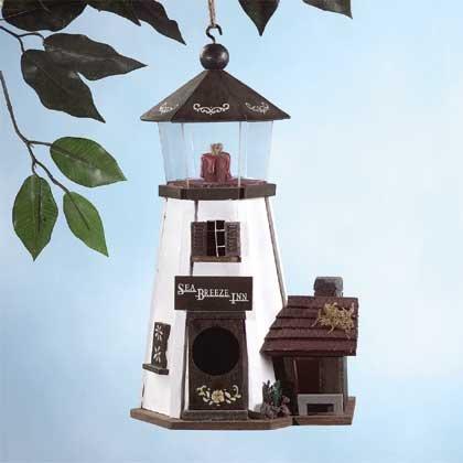Wood Lighthouse Birdhouse #31243