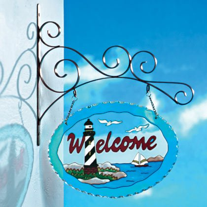 Glass Lighthouse-themed Welcome Sign #35126