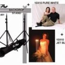 Backdrop Stand Plus Black/White Muslins Combo