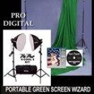 Complete Green Screen Wizard Portable Studio Package #1