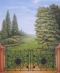 0020 Premium Hand Painted Scenic Muslin Photo Backdrop