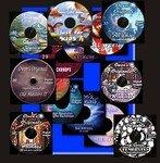 Full Set Digital Backdrops, chromakey backgrounds-15 CD's