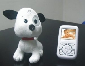 Wireless Baby Monitor - Camera In Nose Of  Soft Toy Puppy