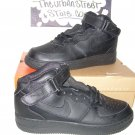 NIKE AIR FORCE ONE ALL BLACK HIGH TOPS MENS SIZE 10.5