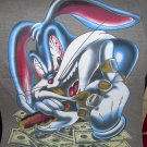 BRNAD NEW MONEY HUNGRY BUGS BUNNY GRAY BIG T