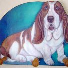 Basset Hound Dog Key  Leash Holder handmade WOOD leash holders