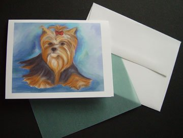 Yorkshire Terrier - Yorkie Puppy - Handmade Personalized Notecards