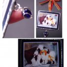Japanese chin spaniel trio dogs handmade Glass Ornament