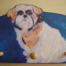 SHIH TZU tricolor dog shih-tzu Leash Holder - key Peg rack Holder handmade gifts