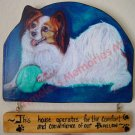 Dog wood sign Papillon Personalized handmade woodsign Dog Plaque