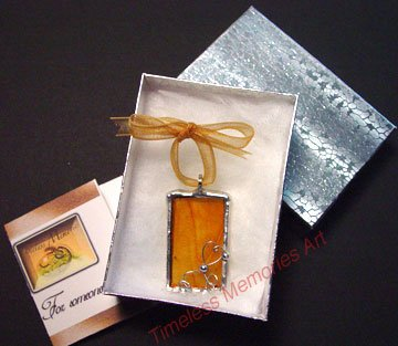 Glass Pendant necklace bracelet pendants handmade ornate wire design amber honey soldered pendant